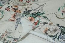 Linen Floral Fabric 4C33
