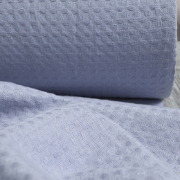 Linen Towel, Plaid Fabric Stone Washed 19C29